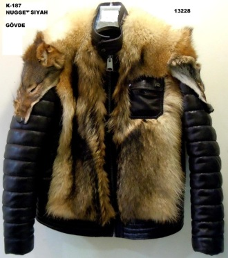 Кожаная куртка с волком Самара